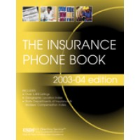 Insurance Phone Book - Current Year or Most Recent Edition.